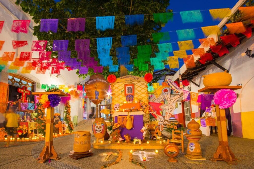 Day Of The Dead celebrations in Puerto Vallarta, Mexico.