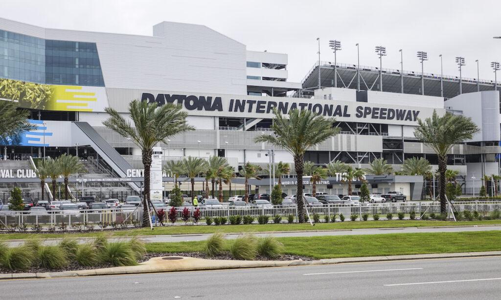 Daytona International Speedway in Florida.