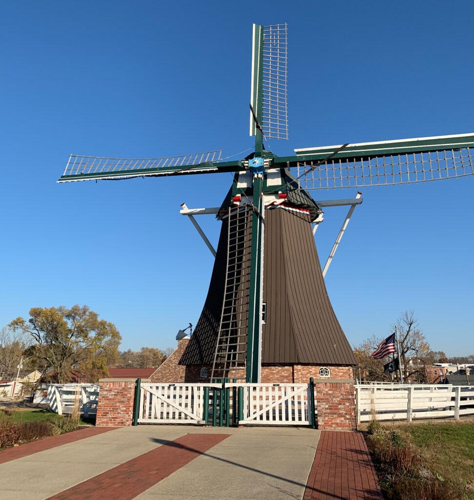 De Immigrant Windmill in Fulton, Illinois.