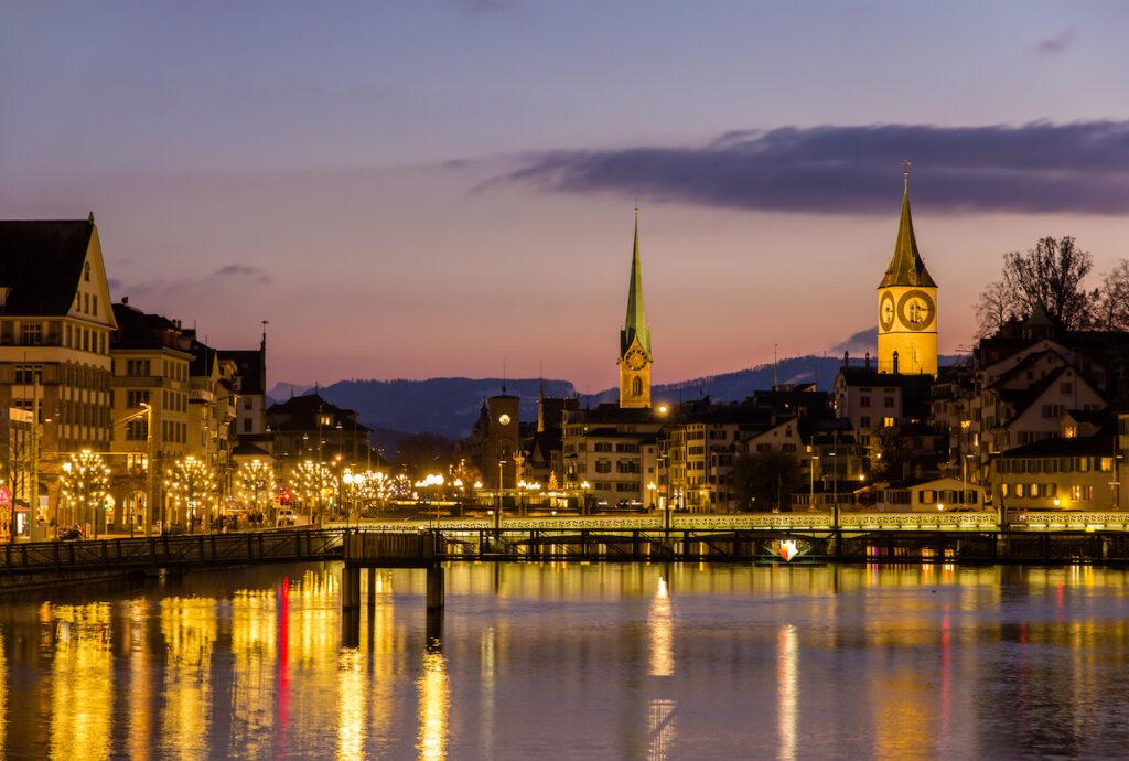 December in Zurich, Switzerland.