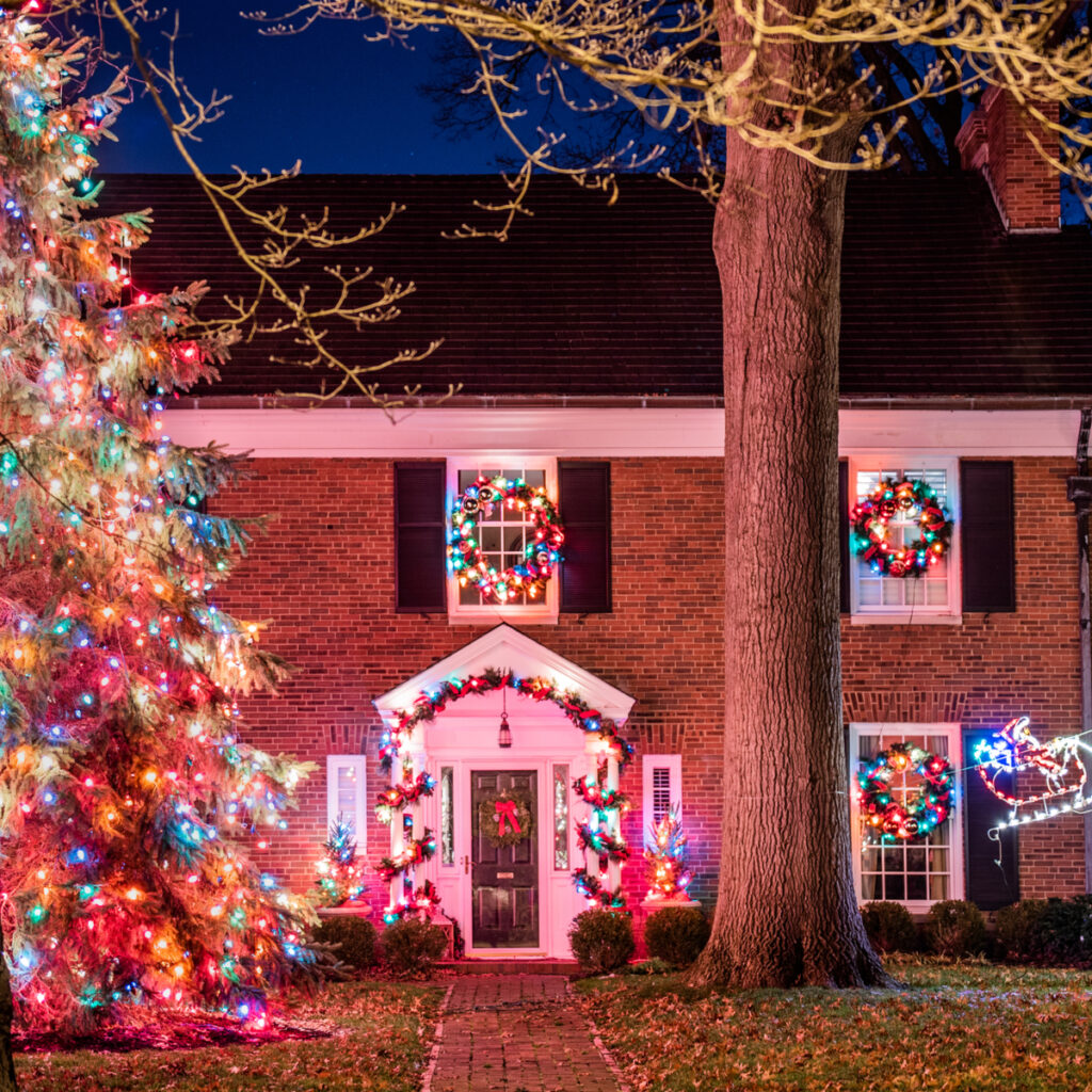 Decorated house in Santa Claus, Indiana.