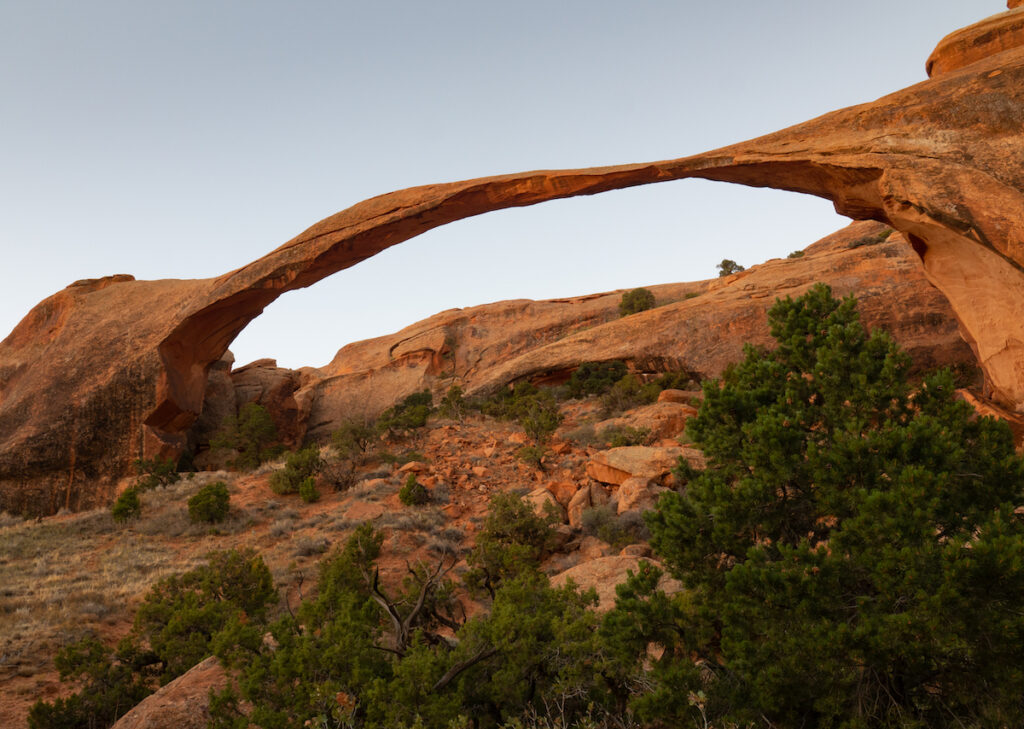 Delicate Arch at Arches National Park in Utah near Moab.