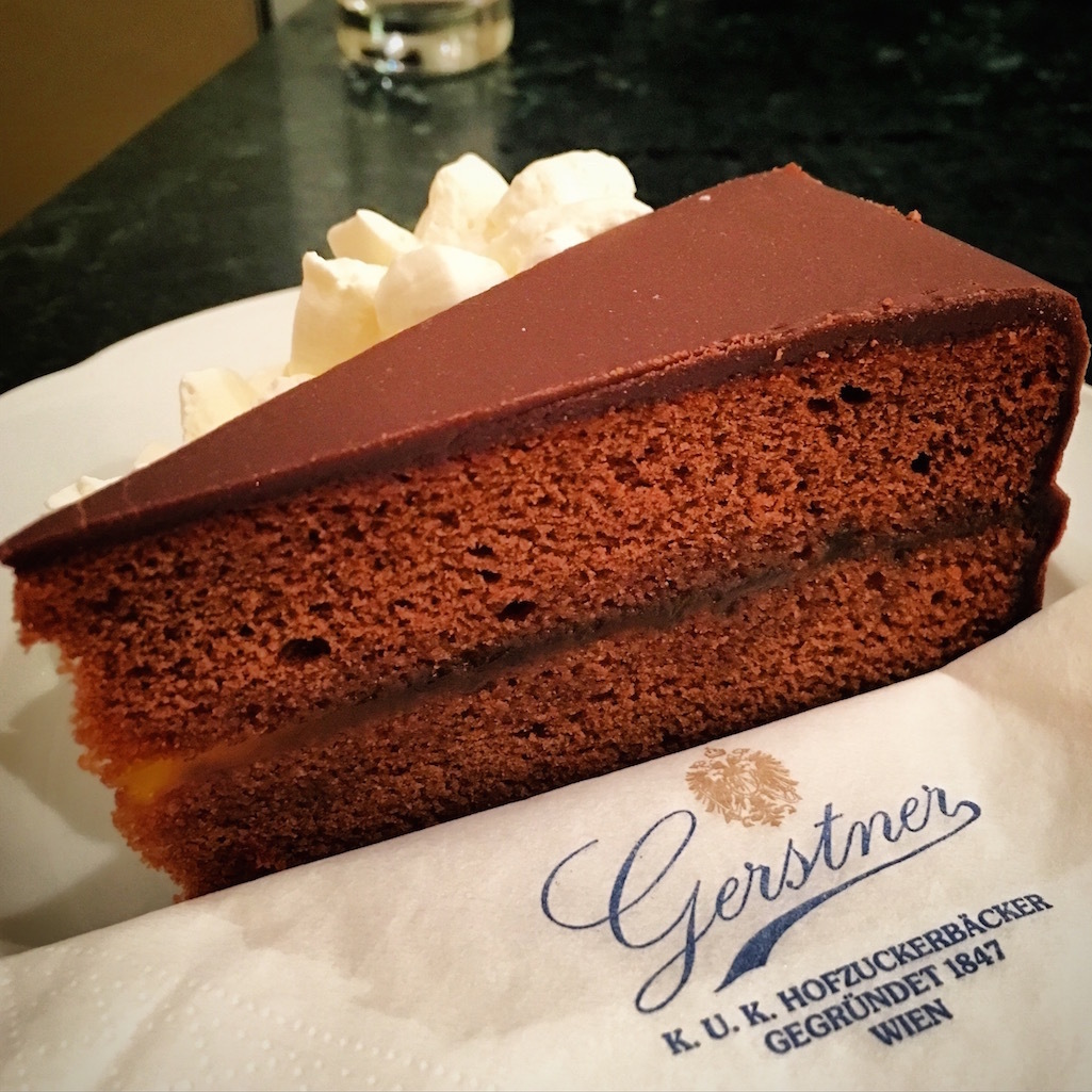 Delicious chocolate cake from Vienna, Austria.