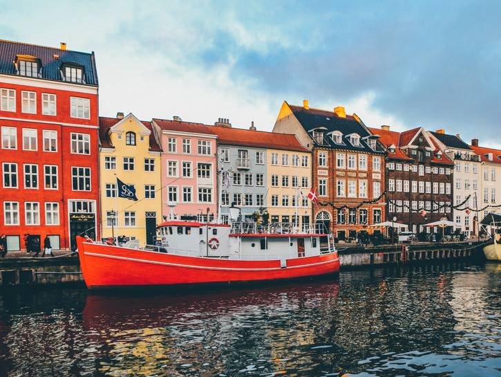 Denmark boats in canal