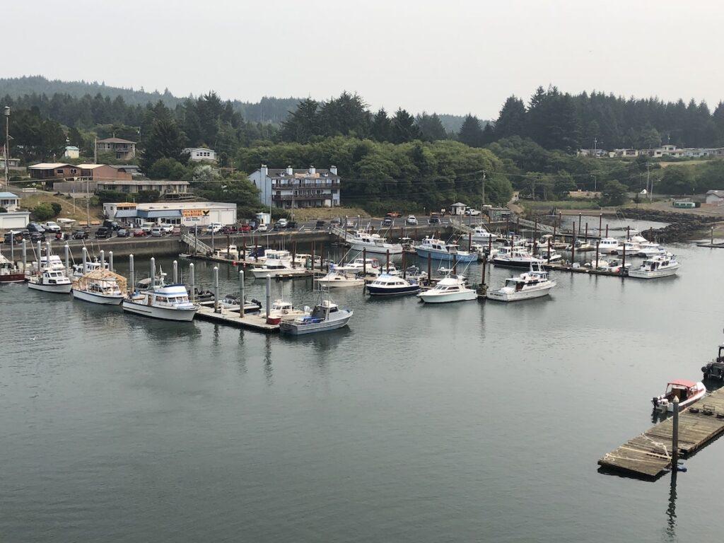 Depot Bay, world's smallest navigable harbor.