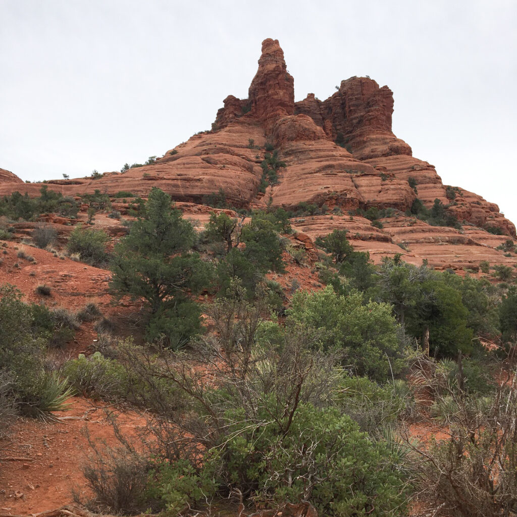 Desert rock formations in Sedona, Arizona.