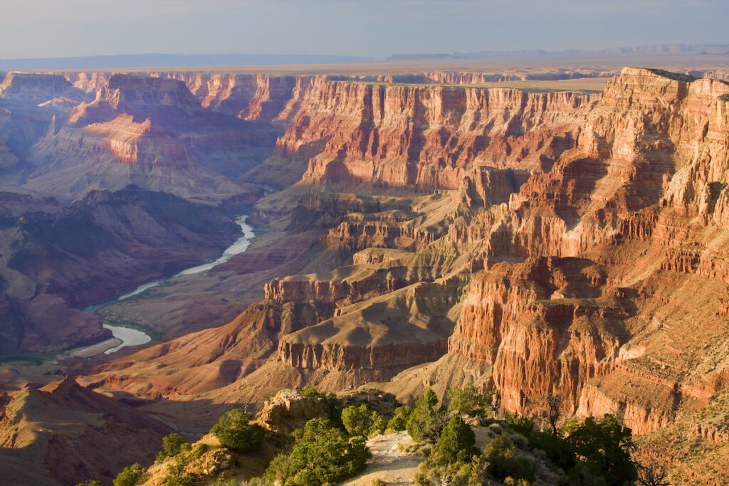 Desert View along the south rim of the Grand Canyon.