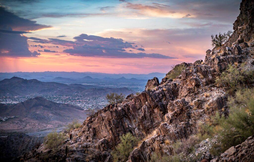 Desert views near Phoenix, Arizona.