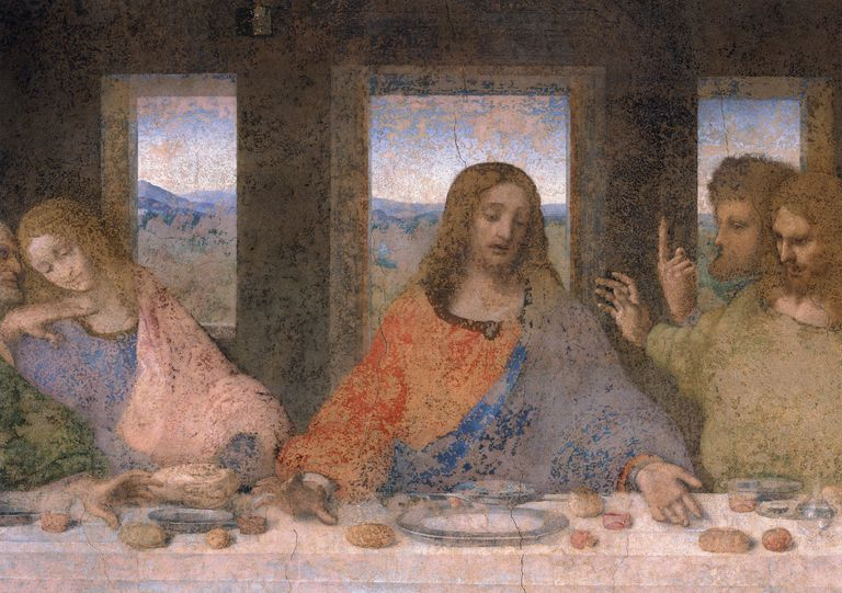 Details of Da Vinci's The Last Supper