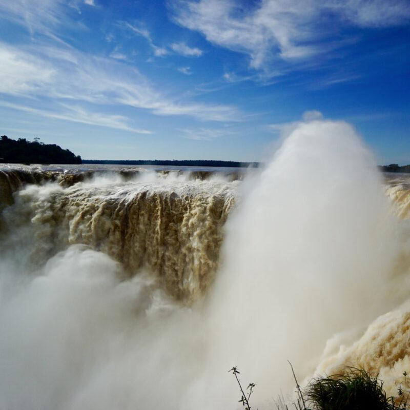 Devil's Throat at Iguazu Falls in Argentina.