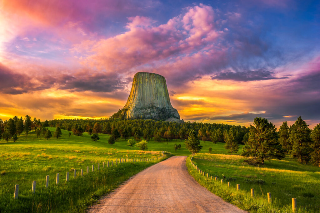 Devil's Tower National Monument in Wyoming.
