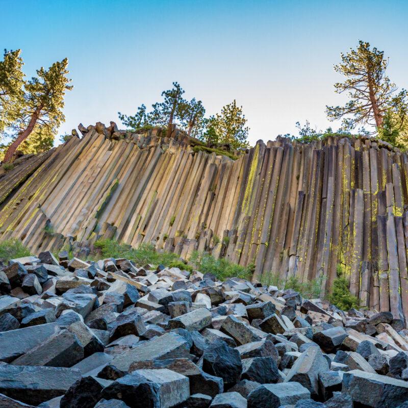Devils Postpile National Monument in California.