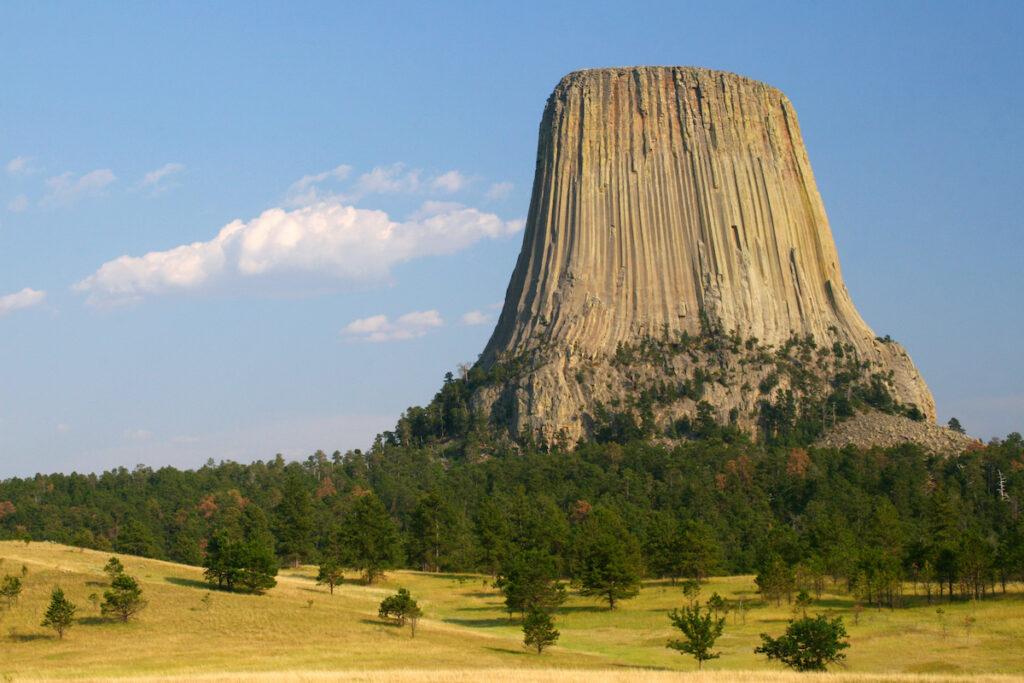 Devils Tower in Wyoming.