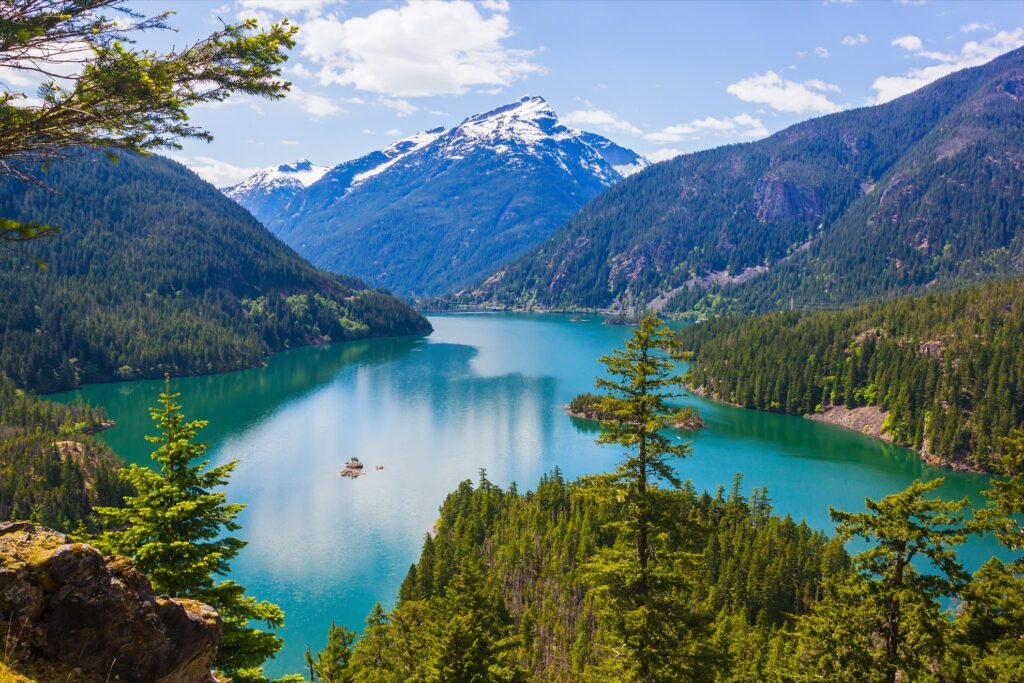 Diablo Lake in the North Cascades National Park.