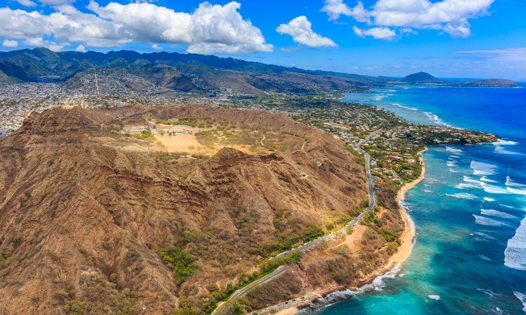 Diamond Head Crater in Hawaii.