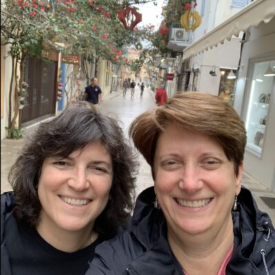 Diana and Sue in Greece.