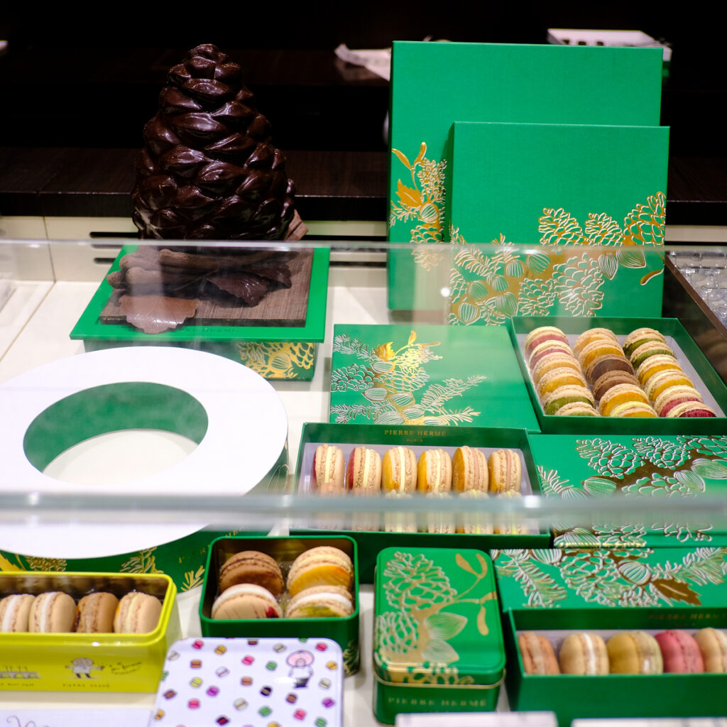 Different flavors of macarons from Pierre Herme.