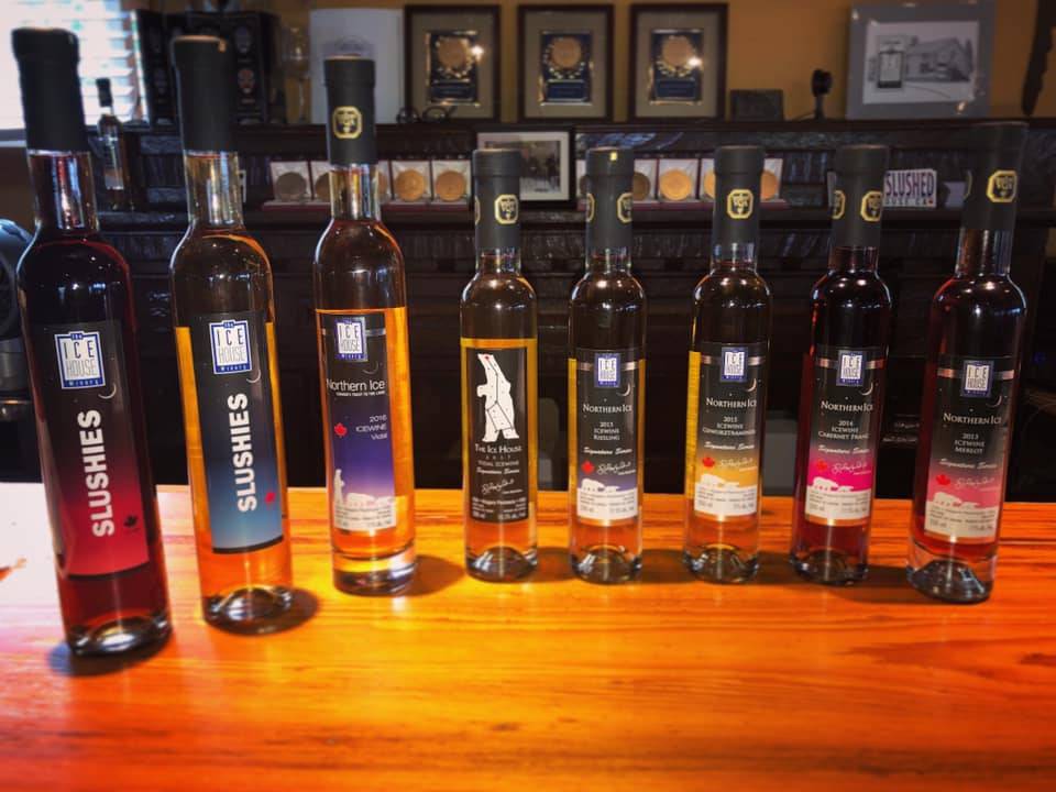 Different wines from The Ice House Winery.