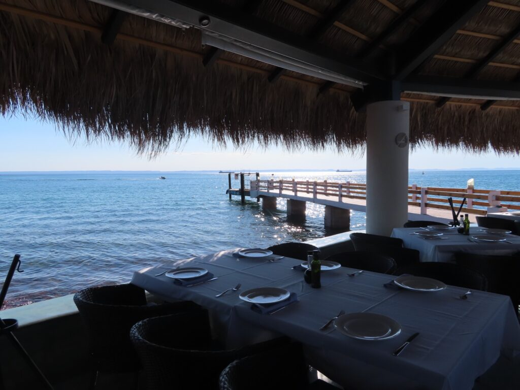 Dinner with a view of the Sea of Cortez.
