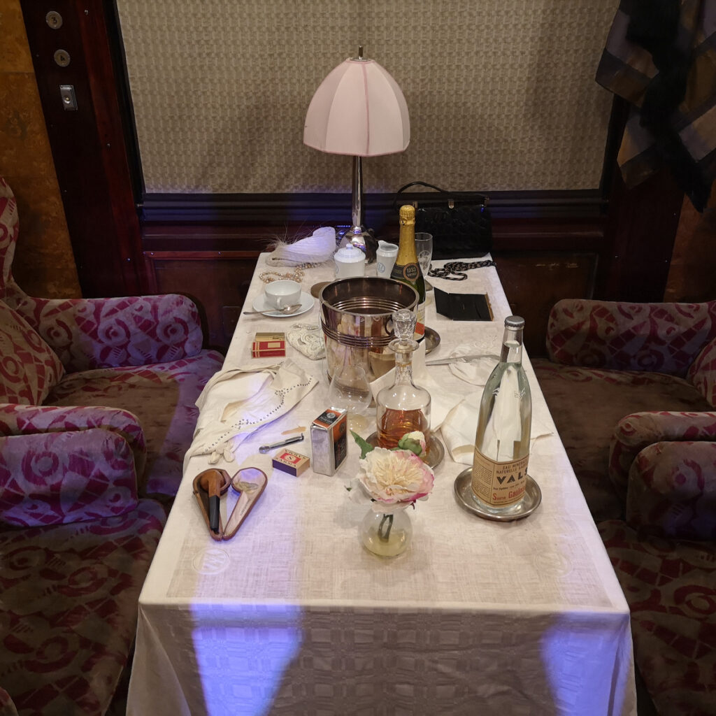 Dinning on the Eastern and Orient Express.