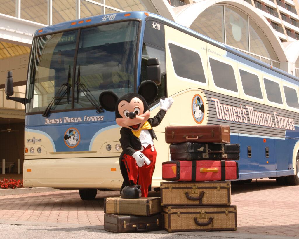 Disney's Magical Express bus.