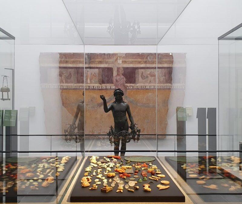 Displays at the Antiquarium of Pompeii.
