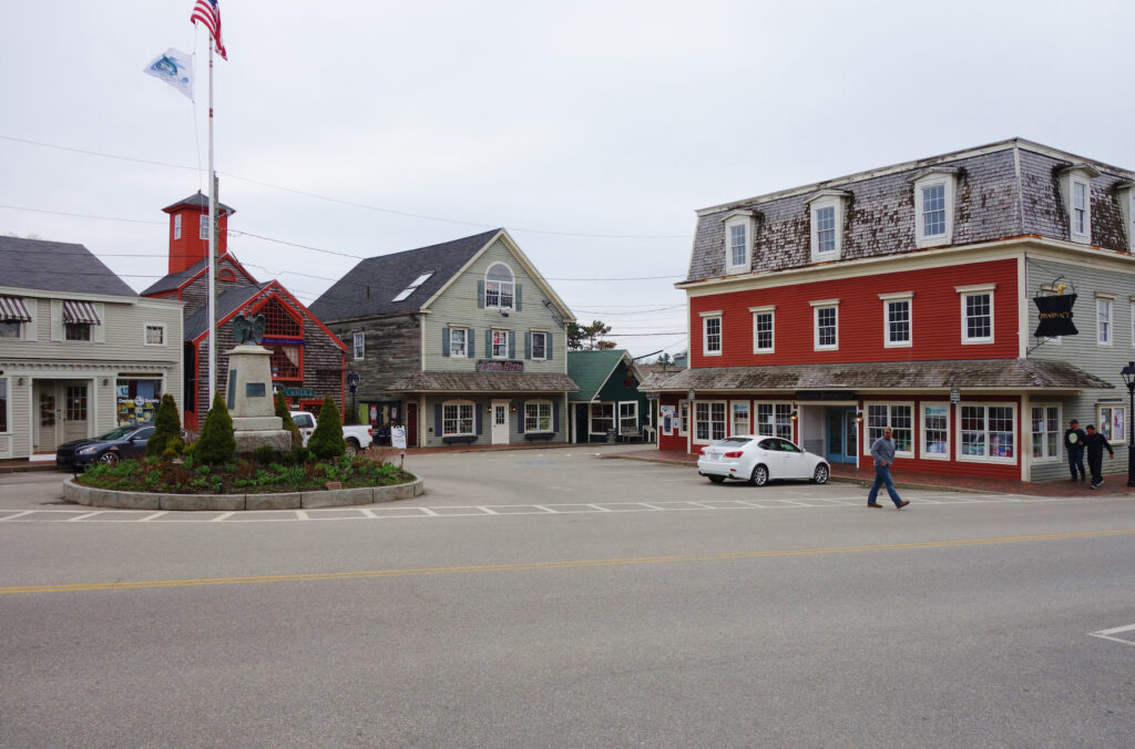 Dock Square in Kennebunkport, Maine.