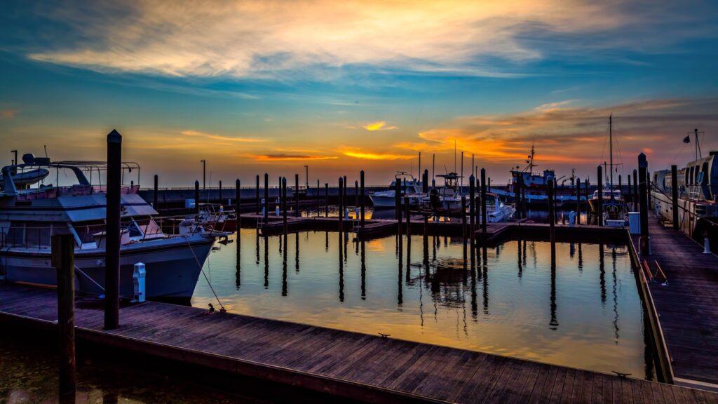 Docks on Lake Okeechobee.