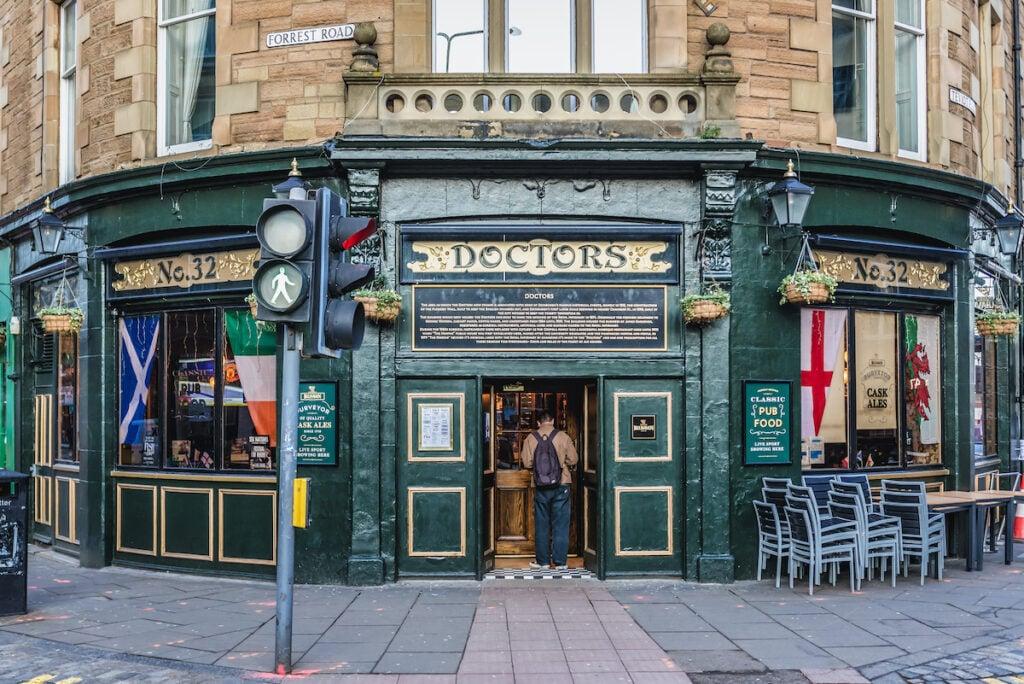 Doctors, a Victorian pub in Edinburgh, Scotland.