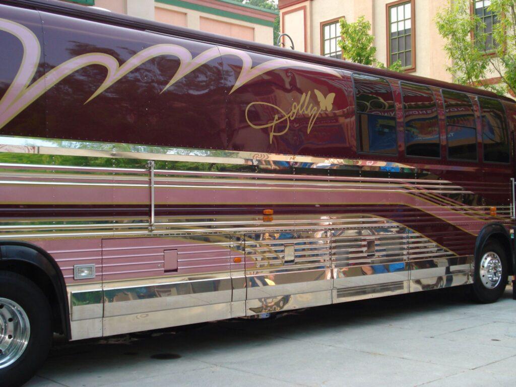 Dolly Parton's tour bus at Dollywood.