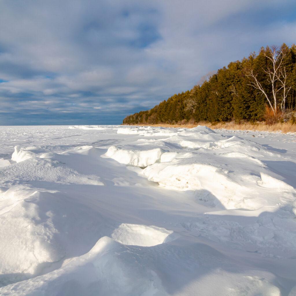 Door County, Wisconsin bay In The Winter.