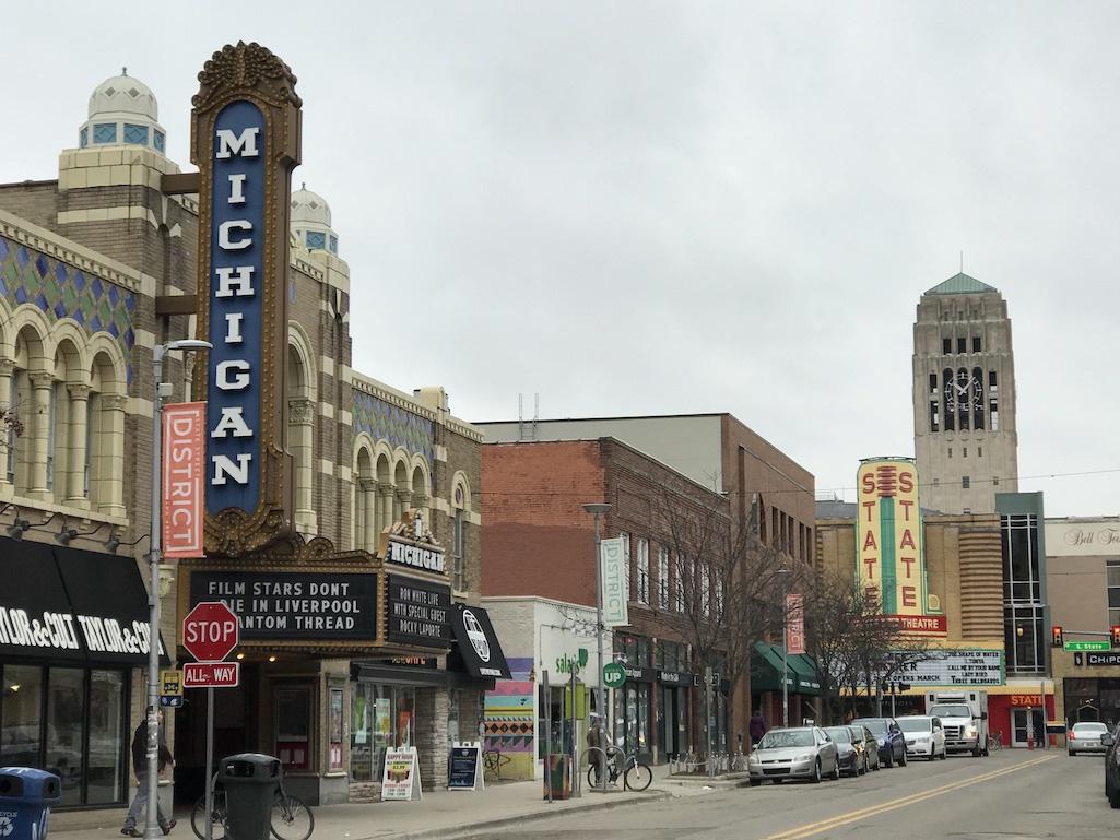 Downtown Ann Arbor, Michigan.