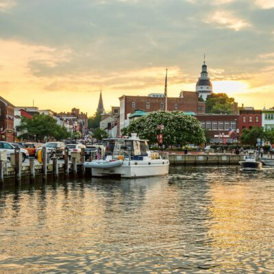Downtown Annapolis, Maryland.