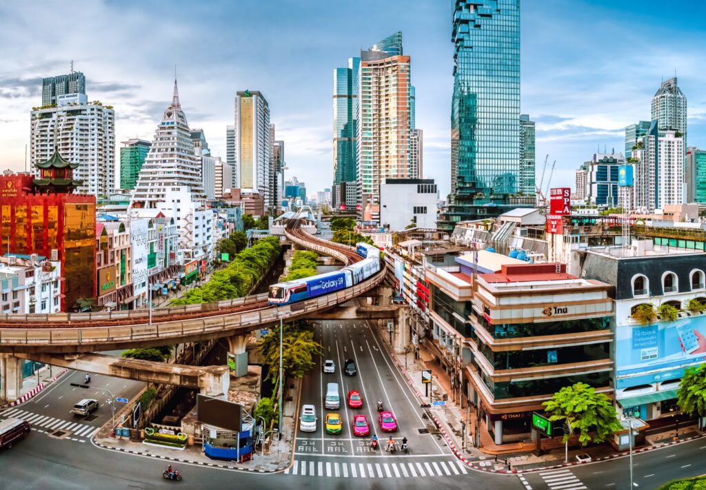 Downtown Bangkok, Thailand.