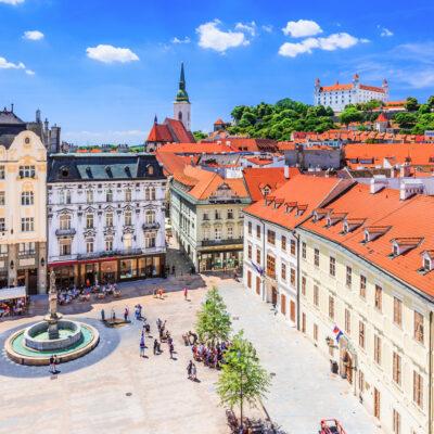 Downtown Bratislava, Slovakia.