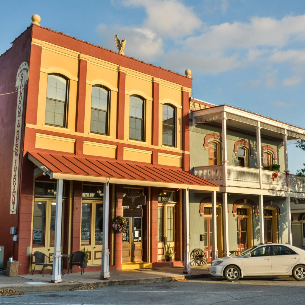 Downtown Brenham, Texas.
