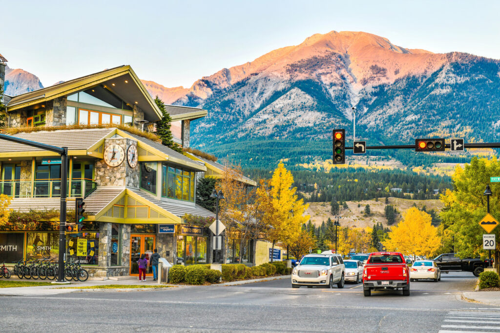 Downtown Canmore, Alberta.