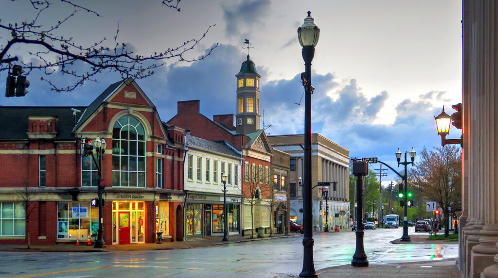 Downtown Chagrin Falls, Ohio.