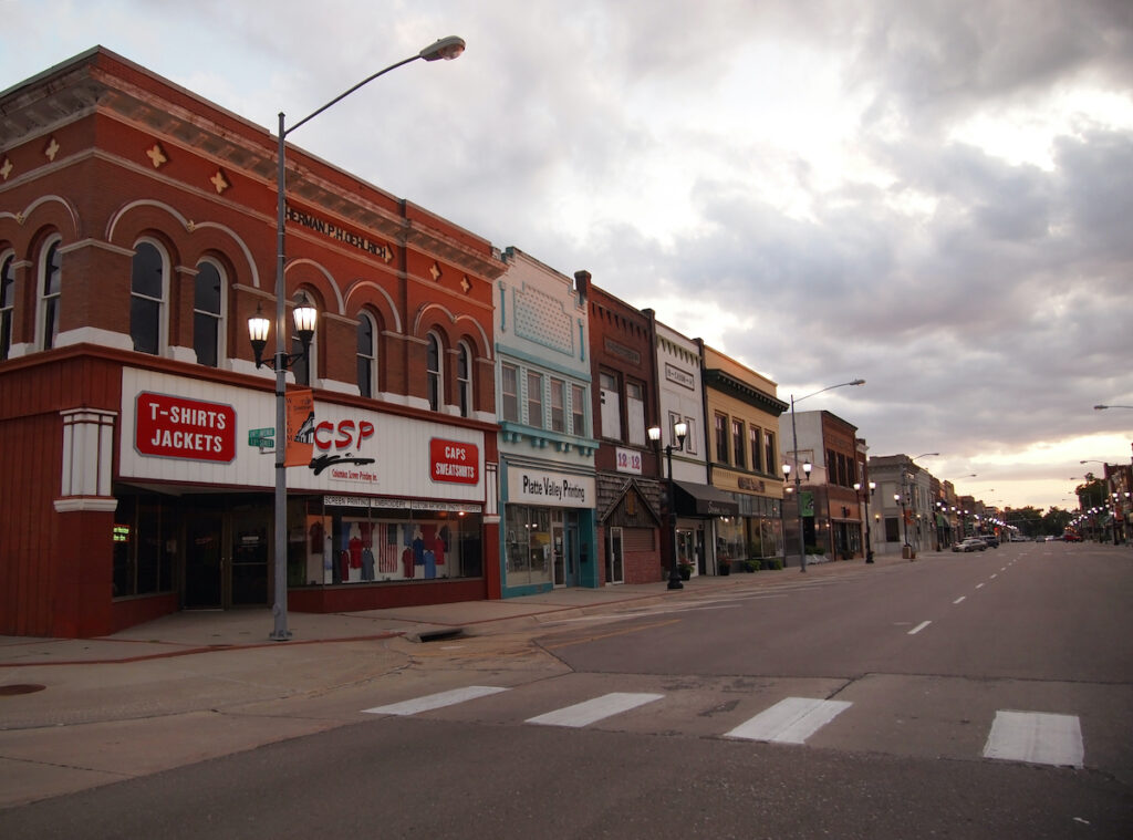Downtown Columbus, Nebraska.