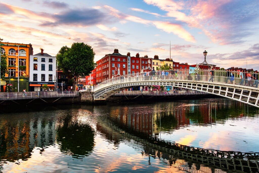 Downtown Dublin, Ireland.