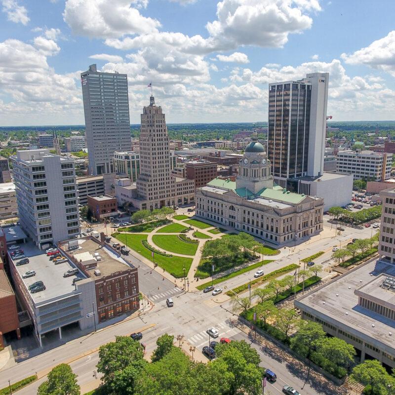 Downtown Fort Wayne, Indiana.