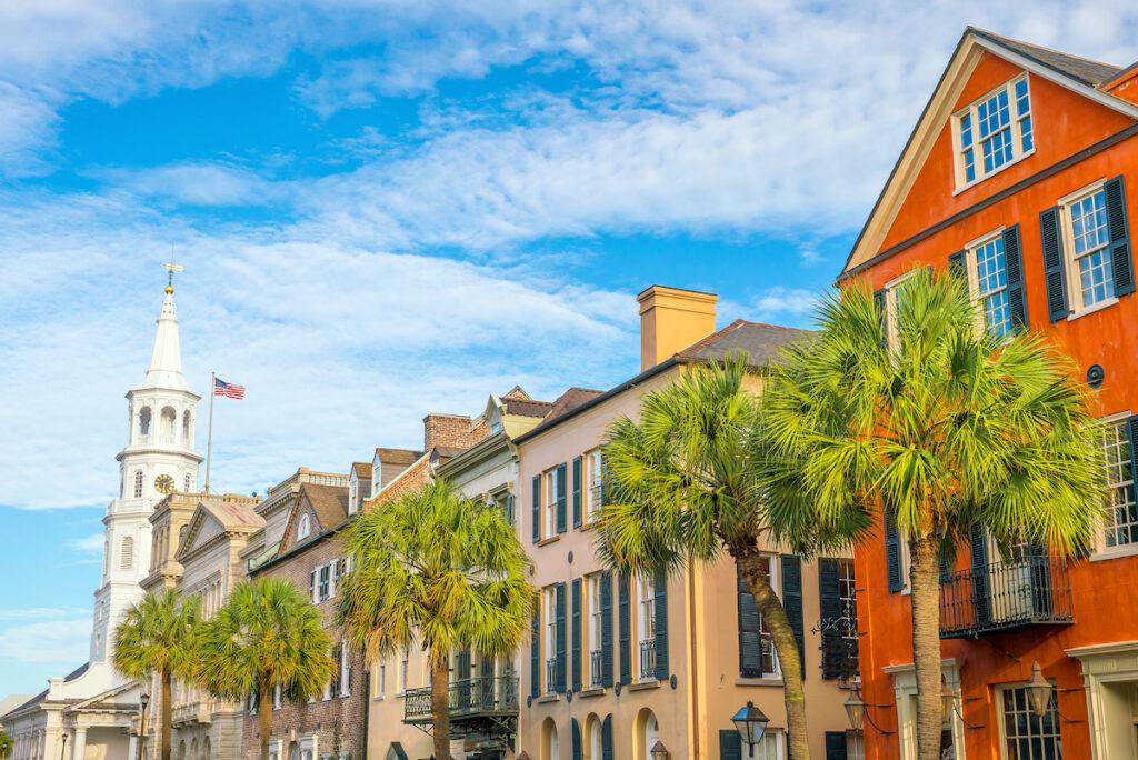 Downtown in historic Charleston, South Carolina.