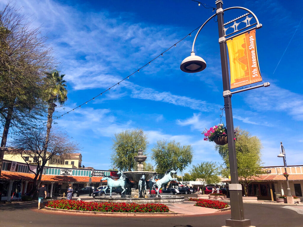 Downtown in Scottsdale, Arizona.