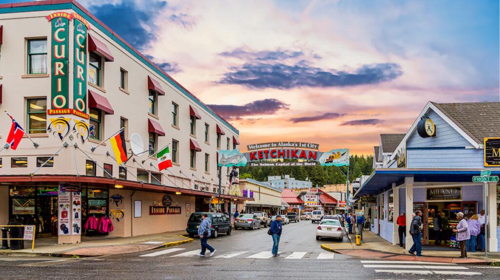 Downtown Ketchikan, Alaska.
