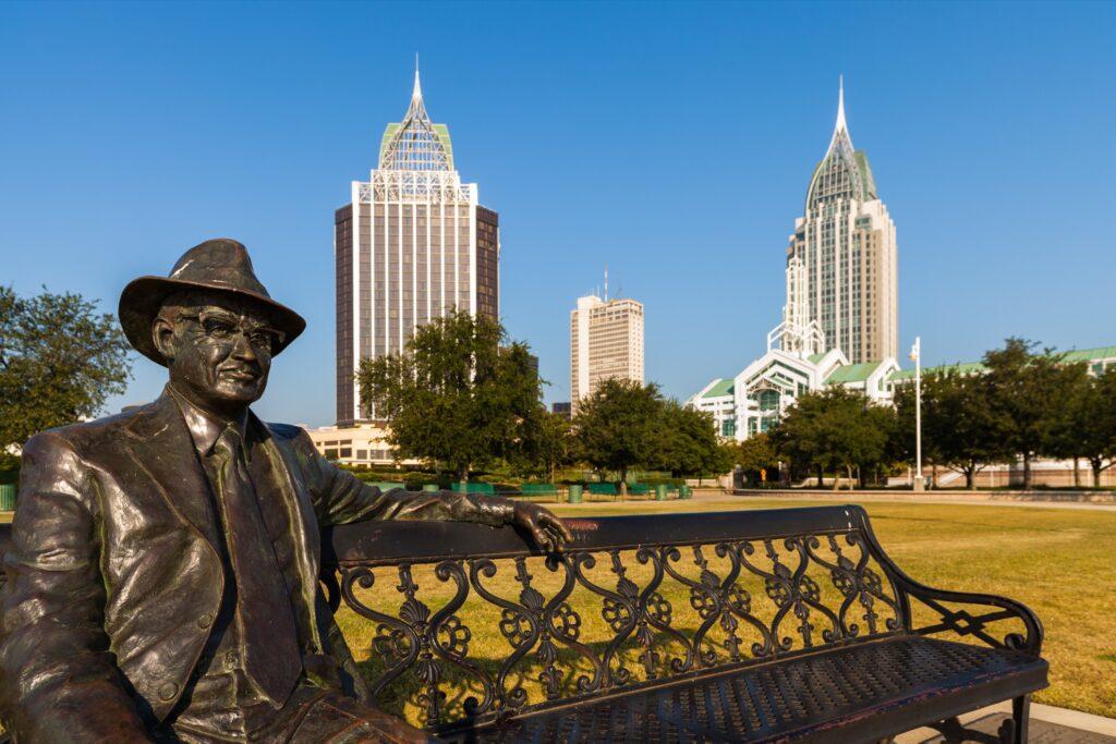 Downtown Mobile, Alabama.