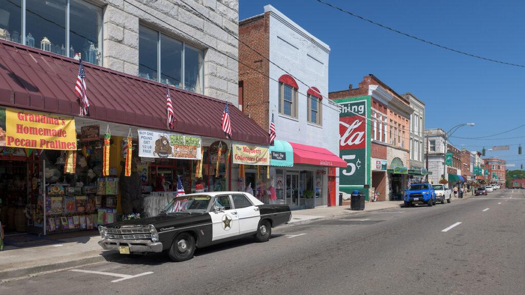 Downtown Mount Airy, North Carolina.