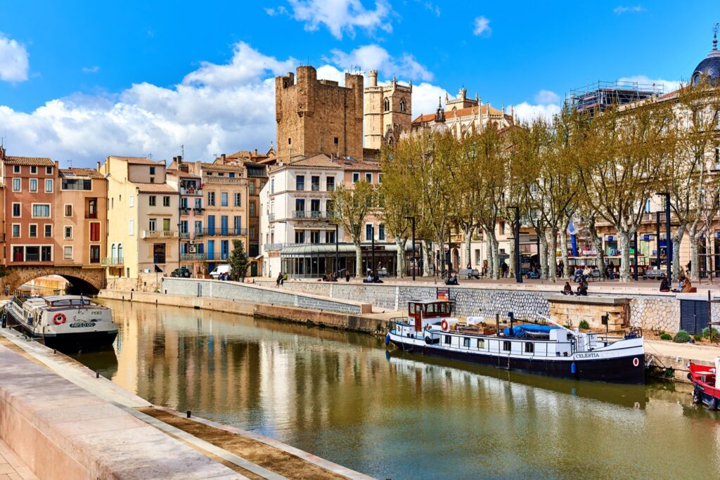 Downtown Narbonne, France.