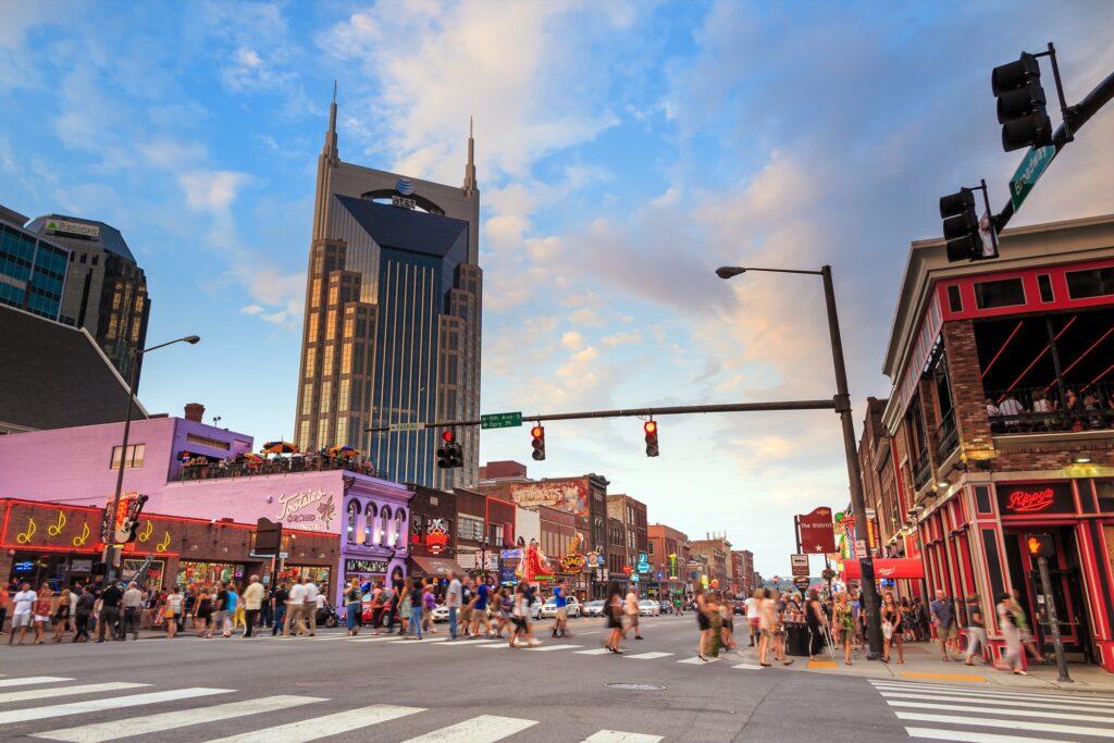 Downtown Nashville.