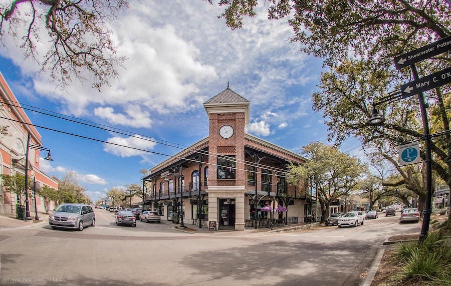Downtown Ocean Springs, Mississippi.