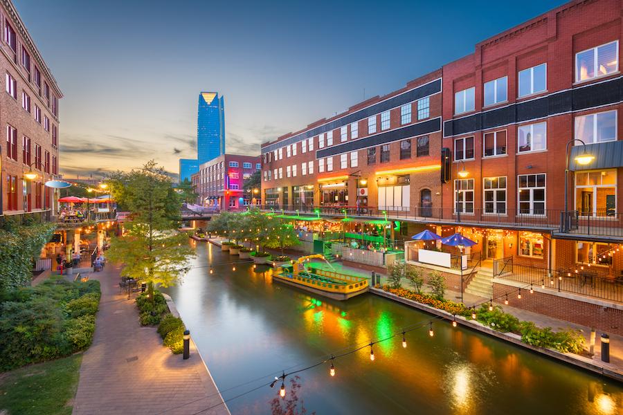 Downtown Oklahoma City, Oklahoma.